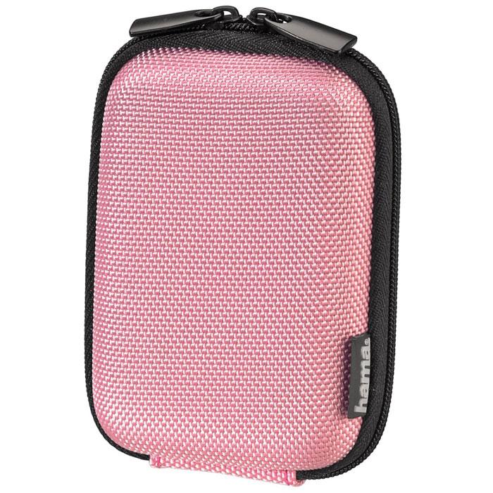 Hama Hardcase Colour Style 40G, Pink чехол для фотокамеры023147Чехол Hama Hardcase Colour Style 40G для цифровой фотокамеры. Имеет отделение для карт памяти и аксессуаров, ремешок для переноски. Также оснащен петлей для ношения на поясе.
