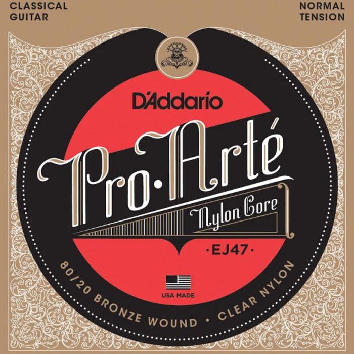 DAddario EJ47 струны для классической гитарыEJ47Струны DAddario EJ47 с обмоткой из бронзы 80/20 для классической гитары.Натяжение: NormalРазмеры: 0,0280-0,0322-0,0403-0,0290-0,0350-0,0430