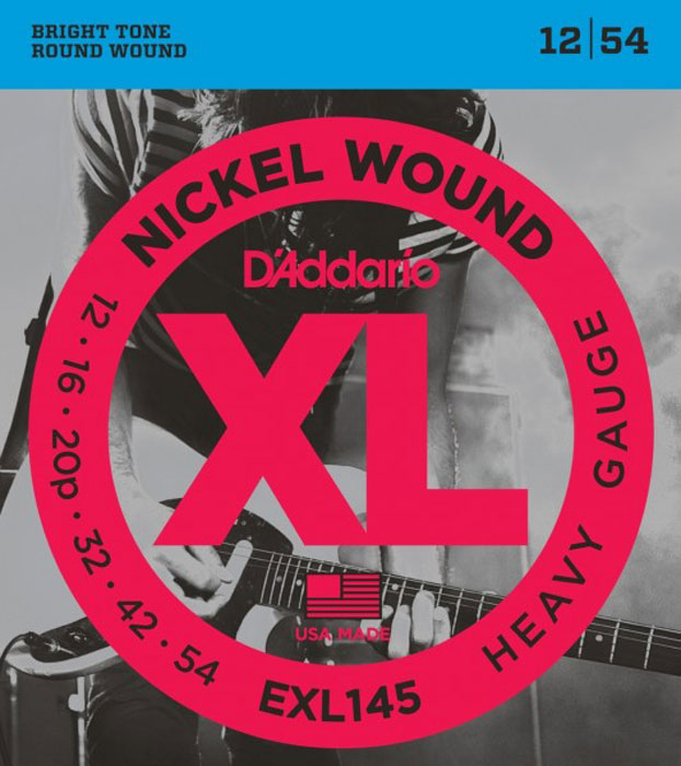 D'Addario EXL145 струны для электрогитары ernie ball power slinky stainless steel wound струны для электрической гитары 11 48