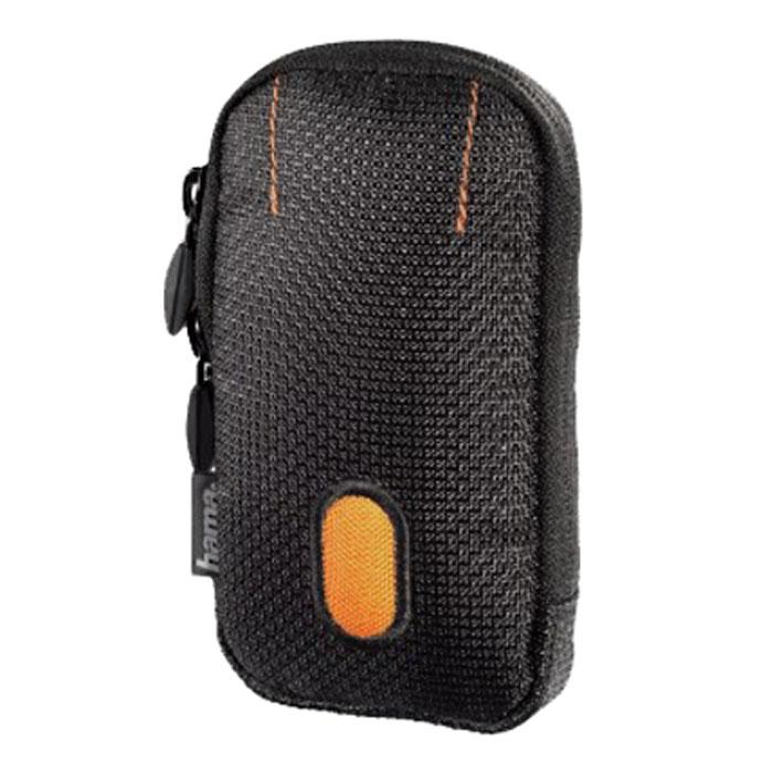 Hama Sorento 70C, Black Orange чехол для фотокамеры023105Hama Sorento 70С - удобная и компактная сумка-чехол для фотокамеры, которая надежно сохранит аппарат в целости и сохранности, значительно увеличив срок его службы. Данная модель изготовлена из высококачественного нейлона, а внутри имеет мягкую подкладку, предотвращающую любые механические повреждения. В переноске этот чехол тоже очень удобен - на нем предусмотрено крепление на пояс.