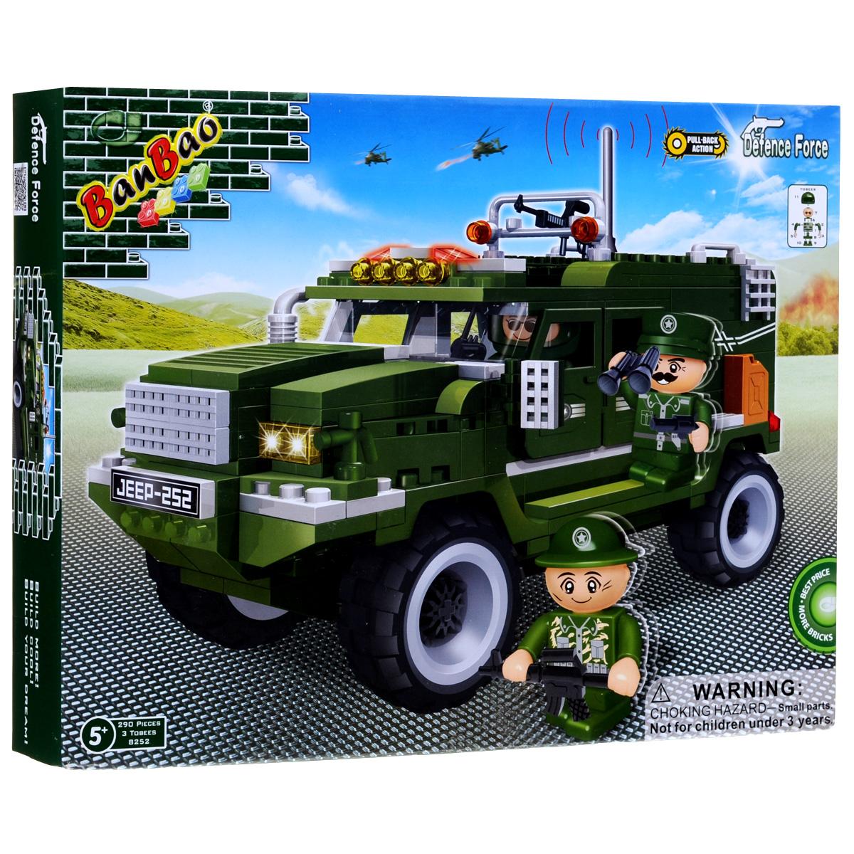 BanBao Конструктор Военный джип солдатики вов купить
