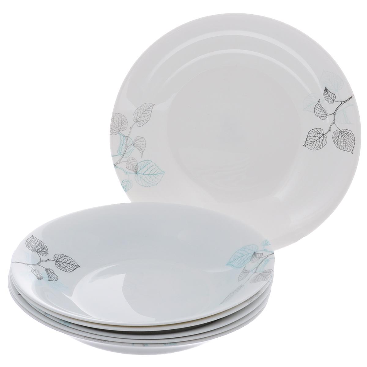Набор суповых тарелок Bormioli Rocco Moon Foliage, диаметр 23 см, 6 шт кольца колечки кольцо эвита авантюрин