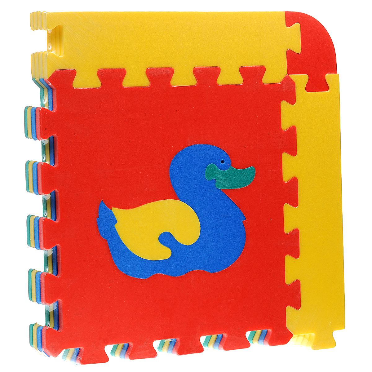 Коврик-пазл Животные, 4 элемента флексика коврик пазл морской 6 деталей