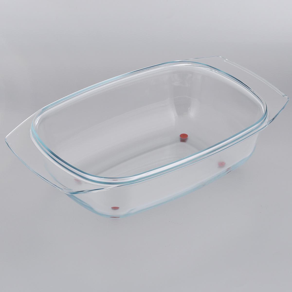 Жаровня Tescoma Delicia Glass, 42 х 26 см629081Массивная жаровня Tescoma Delicia Glass изготовлена из жаростойкого боросиликатного стекла. Основание жаровни оснащено ножками из высококачественного силикона, поэтому ее можно ставить прямо из духовки на стол без риска повреждения поверхности. Жаровня снабжена удобными ручками. Подходит для всех типов печей, холодильников и посудомоечных машин.