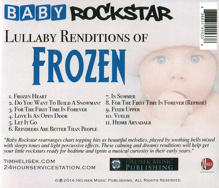 Baby RockStar.  Lullaby Renditions Of Disney's Frozen Волтэкс-инвест