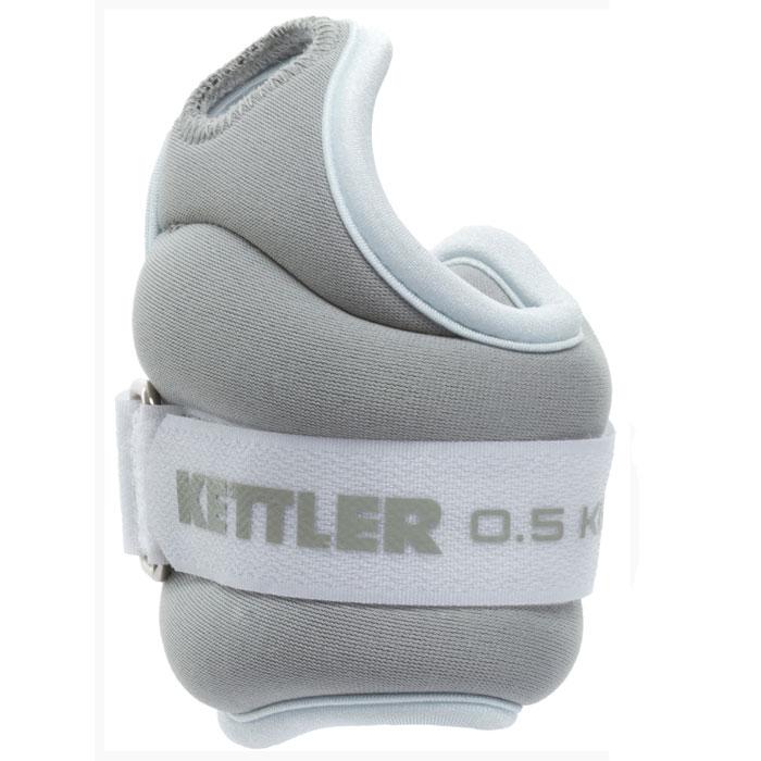 Утяжелитель для рук Kettler, цвет: голубой, серый, 2 х 0,5 кг