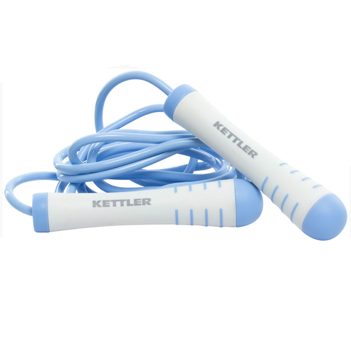 все цены на Скакалка утяжеленная Kettler, цвет: голубой, жемчужно-белый
