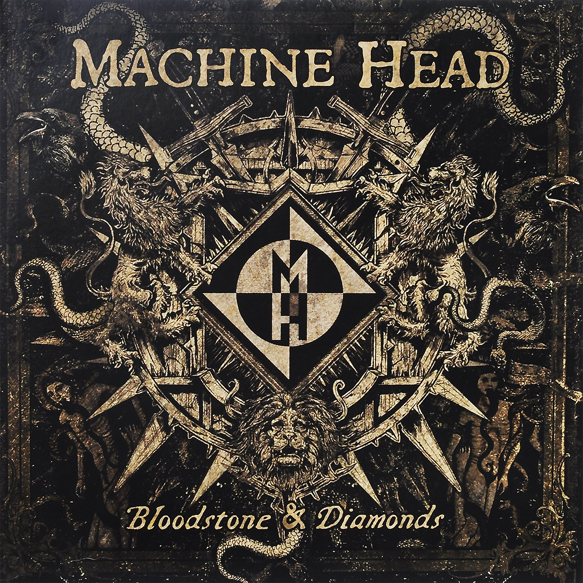 Machine Head. Bloodstone & Diamonds (2 LP) kaish wilkinson 3x3 deluxe vintage tuners tuning keys machine head for lp chrome