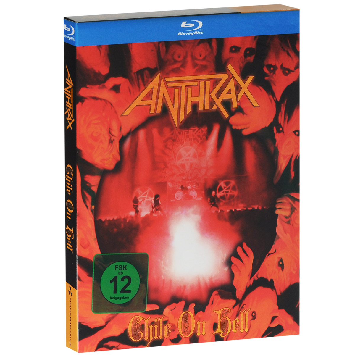 Anthrax. Chile on hell (Blu-ray + 2 CD) celine dion through the eyes of the world blu ray