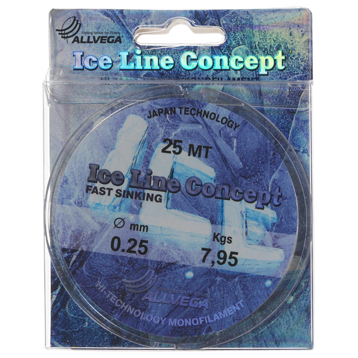 Леска Allvega Ice Line Concept, сечение 0,25 мм, длина 25 м