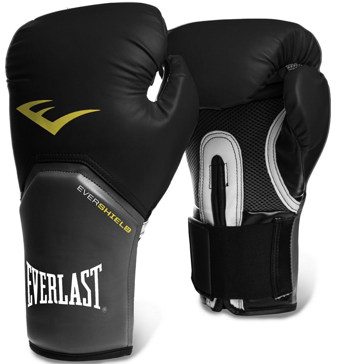 Перчатки тренировочные Everlast Pro Style Elite, цвет: черный, 14 унций661.22Everlast Pro Style Elite — тренировочные боксерские перчатки для спаррингов и работы на снарядах. Изготовлены из качественной искусственной кожи с применением технологий Everlast, использующихся в экипировке профессиональных спортсменов. Благодаря выверенной анатомической форме перчатки надежно фиксируют руку и гарантируют защиту от травм. Нижняя часть, полностью изготовленная из сетчатого материала, обеспечивает циркуляцию воздуха и препятствует образованию влаги, а также неприятного запаха за счет антибактериальной пропитки EVERFRESH. Комбинация легких дышащих материалов поддерживает оптимальную температуру тела. Модель подходит для начинающих боксеров, которые хотят тренироваться с экипировкой высокого класса.