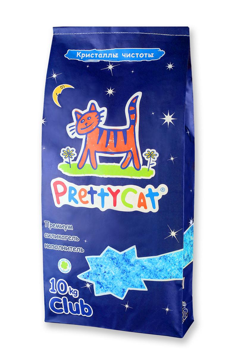 Наполнитель для кошачьих туалетов PrettyCat Кристаллы чистоты, силикагелевый, 10 кг наполнитель для кошачьих туалетов sepicat fresh комкующийся облегченный классический 10 л