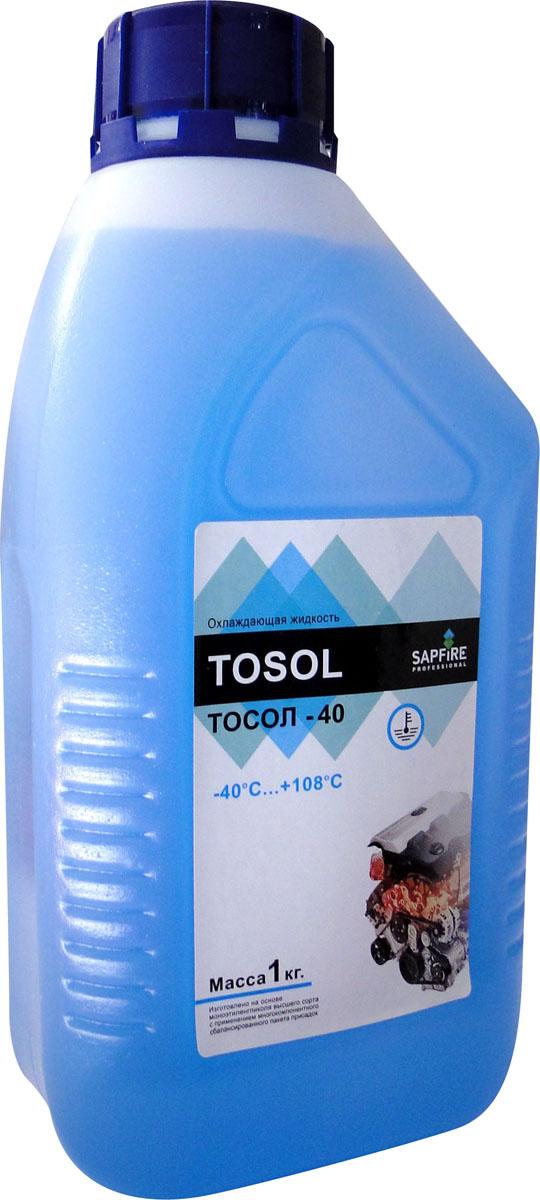 Тосол Sapfire, 1 кг0201-SEGТосол Sapfire изготовлен на основе моноэтиленгликоля высшего сорта с применением многокомпонентного сбалансированного пакета присадок. Благодаря специальному пигменту Тосол светится под ультрафиолетом, что позволяет найти место утечки. Совместим со всеми охлаждающими жидкостями, приготовленными на основе этиленгликоля.Особенности тосола:Коррозийная защита всех металлов, в том числе алюминия и сплавов, применяемых в двигателях отечественного и импортного производства.Улучшенная теплопроводность, обеспечивающая двигателю оптимальный температурный режим.Снятие накипи в системе охлаждения, образованной при использовании других жидкостей.Поддержание чистоты каналов в двигателе и радиаторе.Нейтральность к резиновым и неопреновым материалам.Сохранение заявленных показателей в течение всего срока эксплуатации.Состав: моноэтиленгликоль, пакет химических присадок, специально подготовленная вода, пигмент. Рабочая температура: от -40°С до +108°С.