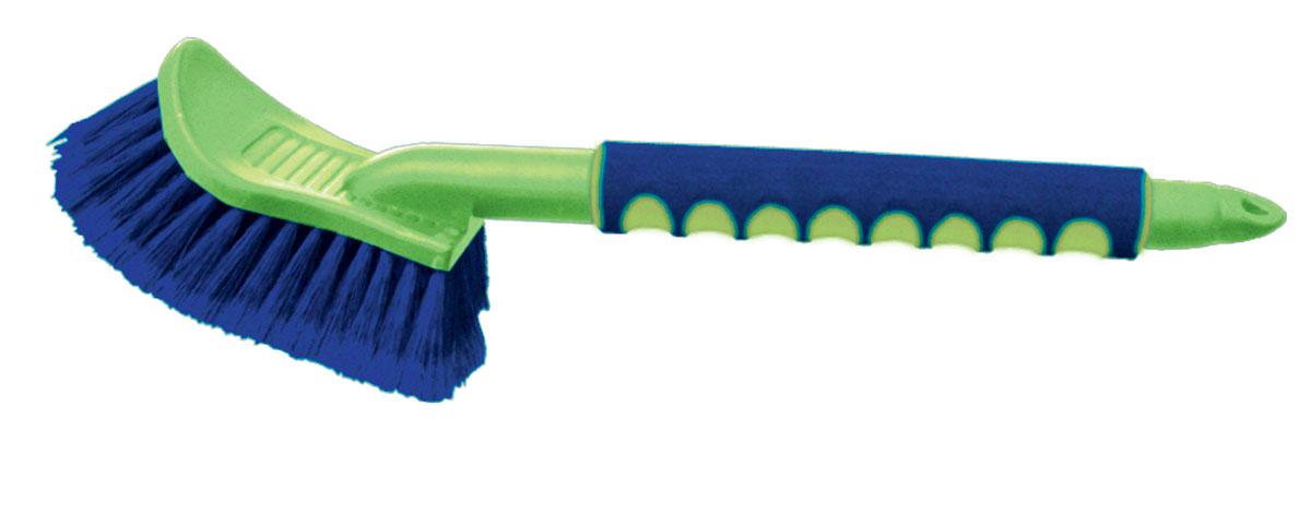 Щетка для мытья Sapfire, цвет: зеленый, синий, 43 см0534-SFЩетка Sapfire имеет особо мягкую распушенную щетину для бережной мойки. Щетина выполнена из высокоупругого полимера для длительной эксплуатации. Прочный корпус, алюминиевая рукоятка с мягким эргономичным нескользящим покрытием.Длина щетины: 5 см. Длина щетки: 43 см.
