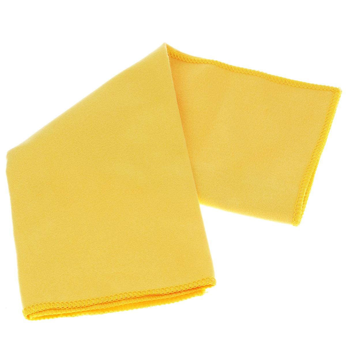 Cалфетка Sapfire Suede, цвет: желтый, 35 х 40 см салфетка чистящая для мытья и полировки автомобиля sapfire netting cloth цвет голубой 35 х 35 см