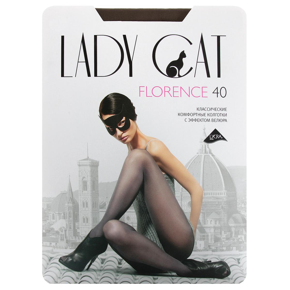 Колготки Грация Lady Cat Florence 40, цвет: дымчатый. Размер 2 колготки грация lady cat new york 40 цвет телесный размер 6
