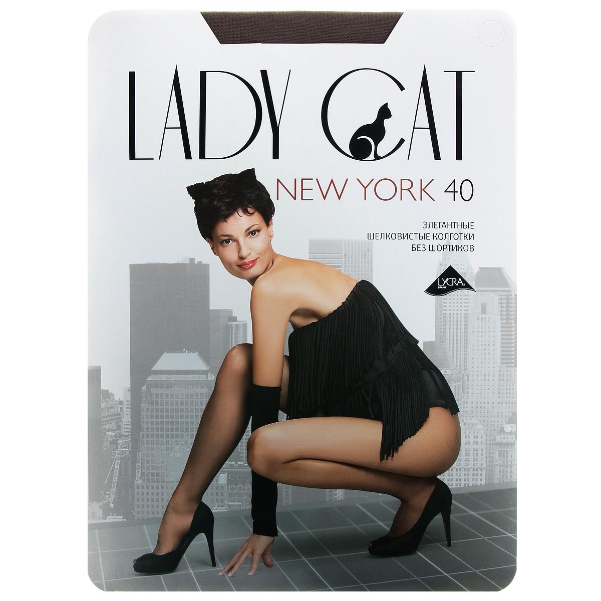 Колготки Грация Lady Cat New York 40, цвет: дымчатый. Размер 5 колготки грация lady cat new york 40 цвет телесный размер 6