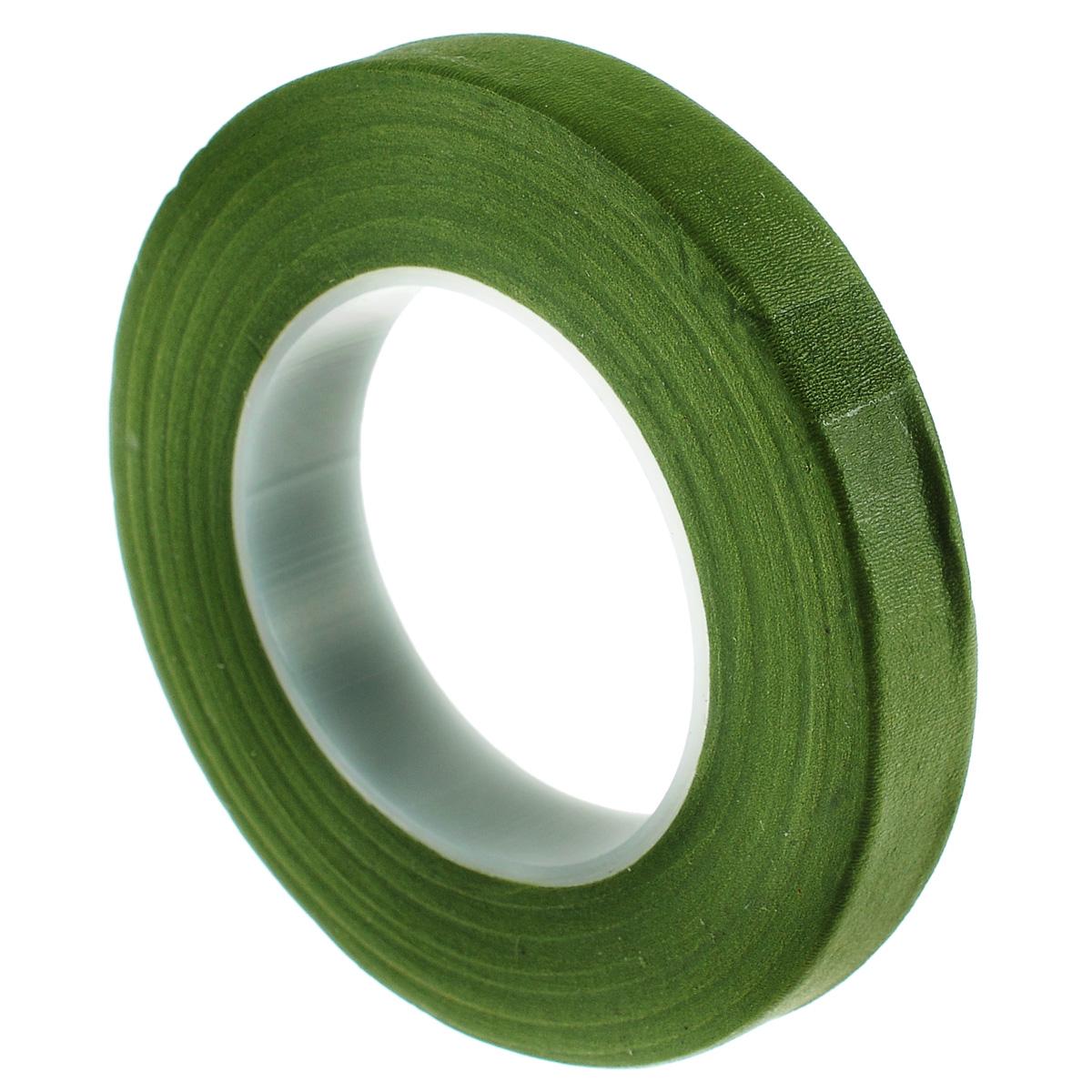 Лента флористическая Hobby Time, цвет: оливковый, ширина 12,7 мм, длина 28 м7705243Флористическая лента Hobby Time - это тонкая эластичная лента в катушке слегким клеящим эффектом. Она липкая, тонкая, легкая, водонепроницаемая, хорошо растягивается. Лента бывает широкой и узкой. Широкая лента в основном используется для крепления к сосуду флористической губки, узкой лентой также иногда перекрещивается отверстие широкогорлового сосуда для закрепления растений. Флористическая лента может использоваться в квиллинге при изготовлении цветов на проволоке, конфетных деревьев, украшений из бисера, различного декора. В основном лента применяется для декорирования проволоки в букетах в соответствии с цветом букета. При намотке флористическую ленту необходимо немного натягивать, чтобы она лучше прилипала к стеблю цветка.Особенности флористической ленты: - Легко разглаживается и плотно прилегает к поверхности,- Принимает любую форму,- Позволяет продлить свежесть цветка, поэтому необходима при создании свадебных букетов и других аксессуаров из цветов,- Лентой можно загрунтовать гладкую поверхность перед закреплением на ней флористической композиции, чтобы фиксация последней была устойчивой. Ширина ленты: 12,7 мм.Длина ленты: 28 м.