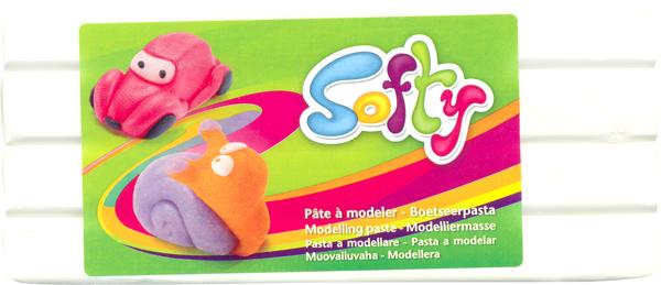 Пластилин Softy, цвет: белый (010), 500 г103357Цветная масса (пластилин) Softy на восковой основе является идеальным вариантом материала для лепки. Высокая пластичность позволяет изготавливать очень тонкие детали. Цвета хорошо смешиваются между собой. Пластилин не липнет к рукам, не окрашивает их, не сохнет на воздухе. Благодаря натуральной основе, безопасен при проглатывании. Хорошо развивает мелкую детскую моторику, а также восстанавливает подвижность пальцев и кистей рук у взрослых. Предназначен для детей старше 3 лет.Материал: восковая основа.Вес: 500 г.