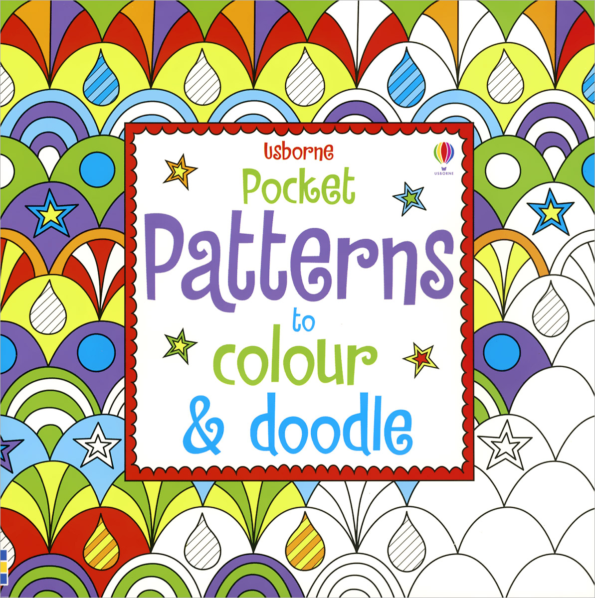 Pocket Patterns to Colour & Doodle wooden multifunction drawing board three in one on the table fine arts black and white brand children drawing toys