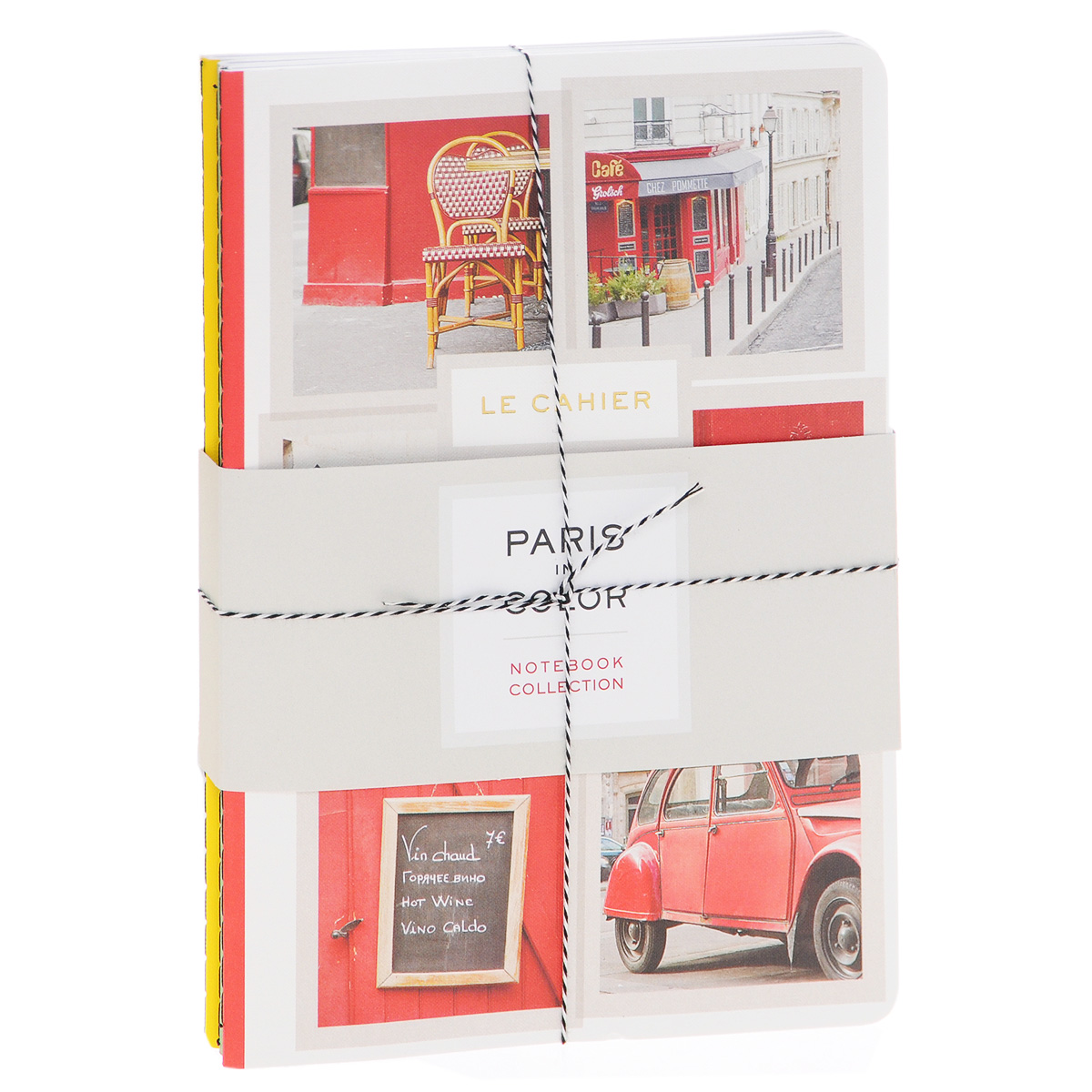 Paris in Color: Notebook Collection: 3 Lined Notebooks paris in fifty design icons