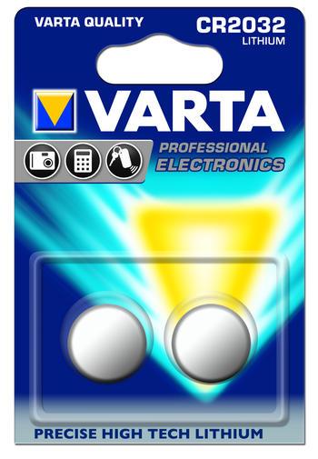 Батарейка Varta Professional Electronics, тип CR2032, 3В, 2 шт