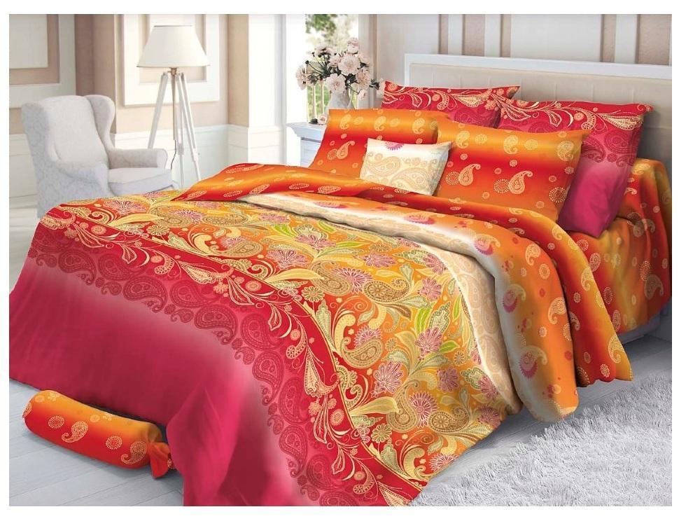 Комплект белья Verossa Sankara, семейный, наволочки 70х70 см, цвет: красно-оранжевый4600001803981Превосходное стильное белье из 100% хлопковой ткани - сатина, станет украшением любой спальни. Благодаря высокому номеру пряжи, атласному переплетению, а также высокой плотности ткани, сатин является невероятно мягкой и гладкой тканью с особым блеском, а также высокой прочностью. Предназначено для женщин, которые любят и ценят себя и свой комфорт. Они обладают хорошим вкусом и при этом практичны. Их ценности – дом, семья, традиции домашнего уюта.