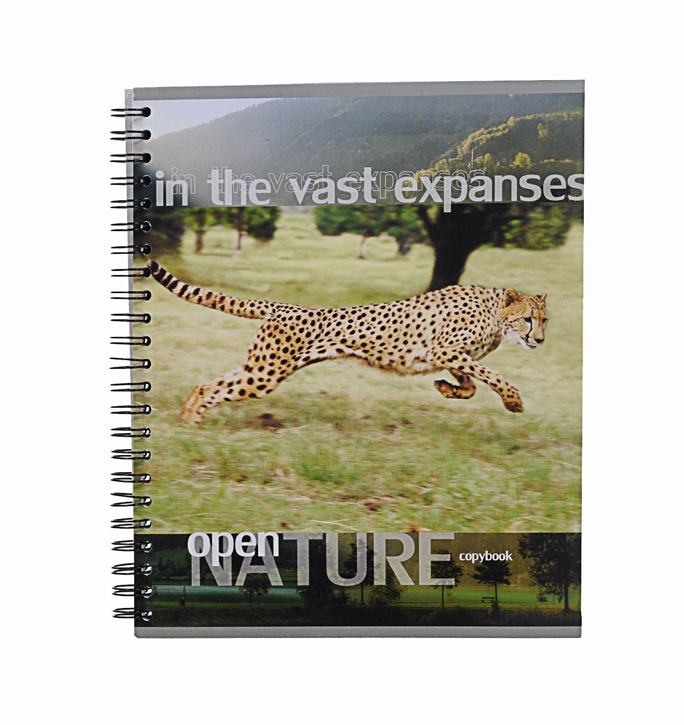 Тетрадь на спирали, 96л Open nature,леопард38010леопардтетрадь на спирали,96л Open nature, леопард