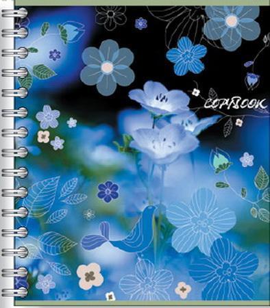 Тетрадь на спирали, 60л Полевые цветы синие33586синиететрадь на спирали,60л Полевые цветы синие