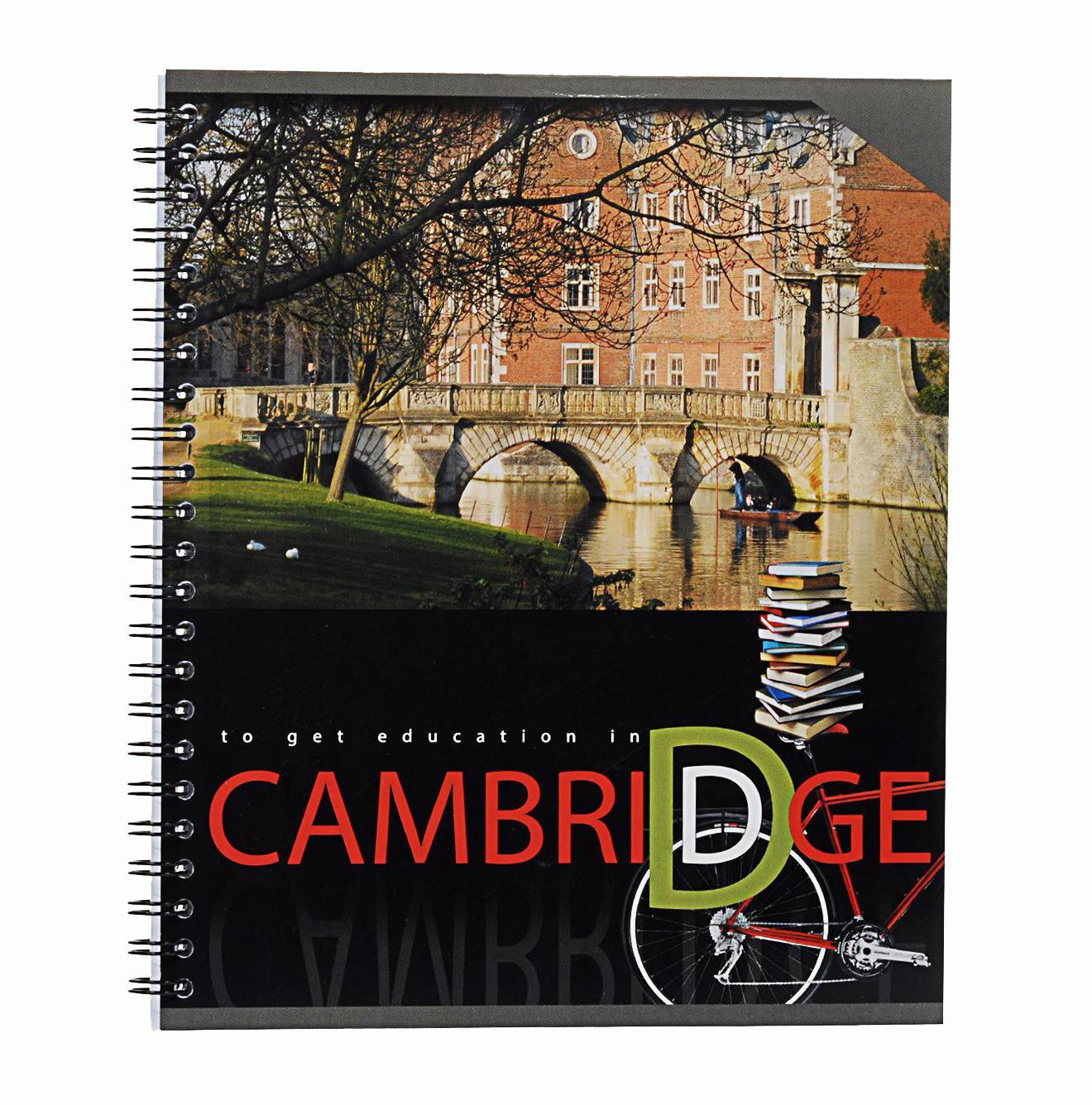 Тетрадь на спирали, 80л Cambridge,УФ-лак,мост37630мосттетрадь на спирали,80л Cambridge, УФ-лак, мост