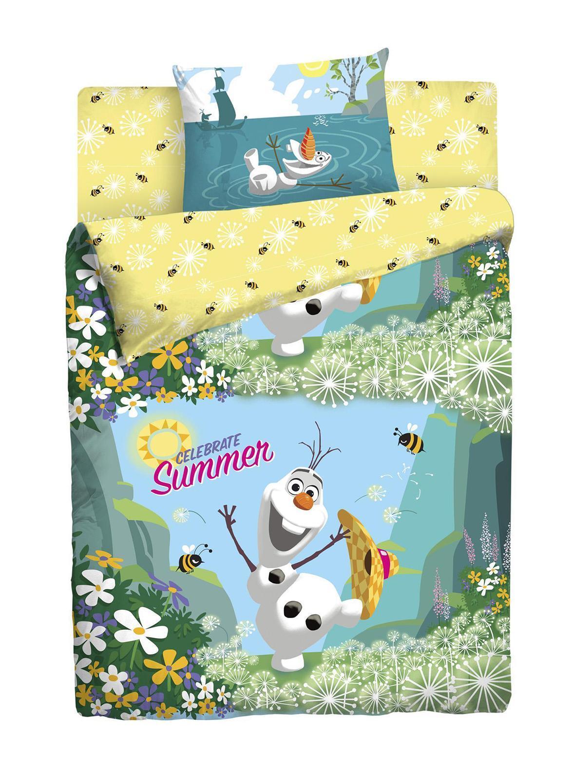 КПБ DISNEY Холодное сердце 1,5СП4600001808719Вас приветствует чудесный мир Disney и герои анимационного фильма Холодное сердце. Комплект пердставлен в желто-голубом цвете с изображением забавного и всеми любимого Олафа. Ваши детки будут в восторге - ведь теперь любимые герои всегда рядом, даже во сне! Уникальная структура ткани с высокими потребительскими свойствами, специальные гипоаллергенные красители, точное соблюдение размеров и высокое качество пошива подарит приятный и интересный сон.