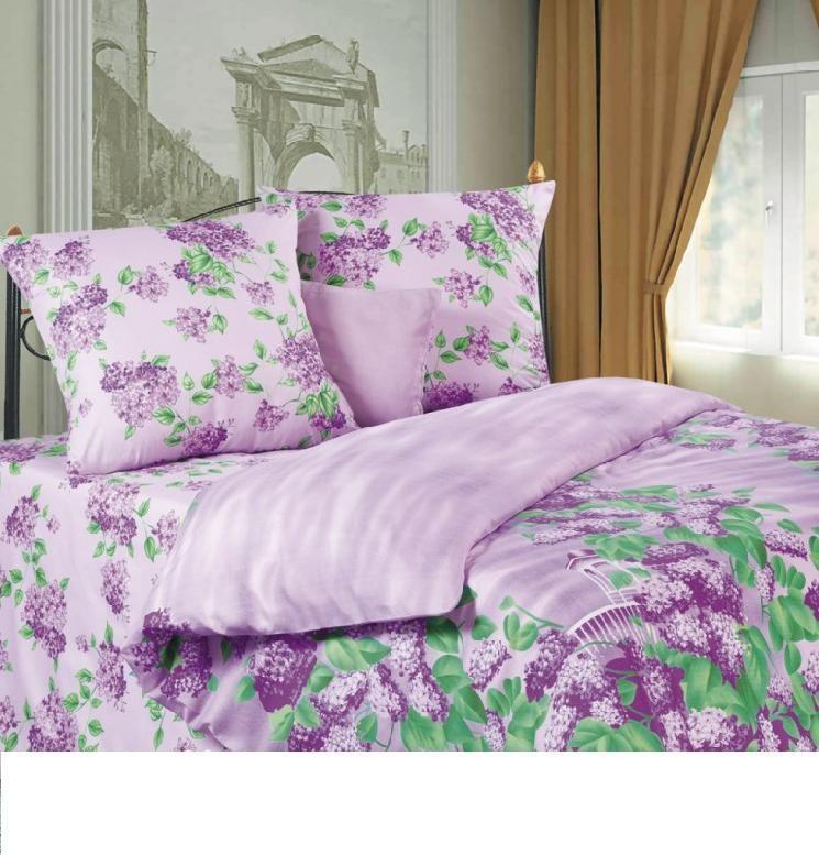 Комплект белья P&W Сирень (2-спальный КПБ, микрофибра), рис.55 кпб семейноеяркие бабочки сирень кпб семейноеяркие бабочки