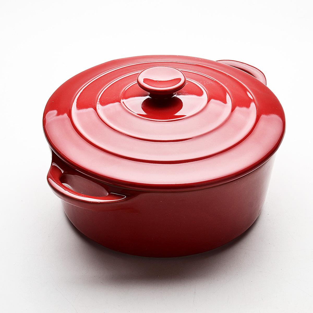 Кастрюля Mayer & Boch с крышкой, цвет: красный, 2,8 л. 2182021820Кастрюля Mayer & Boch, изготовленная из жаропрочной керамики, подходит для любого вида пищи. Элегантный дизайн идеально подходит для современного дома. В комплект входит крышка из керамики. Глиняные ручки обеспечивают надежный захват.Изделия из керамики идеально подходят как для приготовления пищи, так и для подачи на стол. Материал не содержит свинца и кадмия. С такой кастрюлей вы всегда сможете порадовать своих близких оригинальным блюдом.Кастрюлю можно использовать на газовой, электрической плите и в микроволновой печи. Можно мыть в посудомоечной машине.Размер (с учетом ручек): 29,3 см х 23 см.Высота стенок: 9,5 см.Толщина стенок: 6-7 мм. Диаметр основания: 19 см.