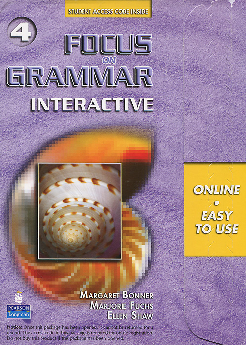 Focus on Grammar 4: Interactive understanding and using english grammar interactive student access code