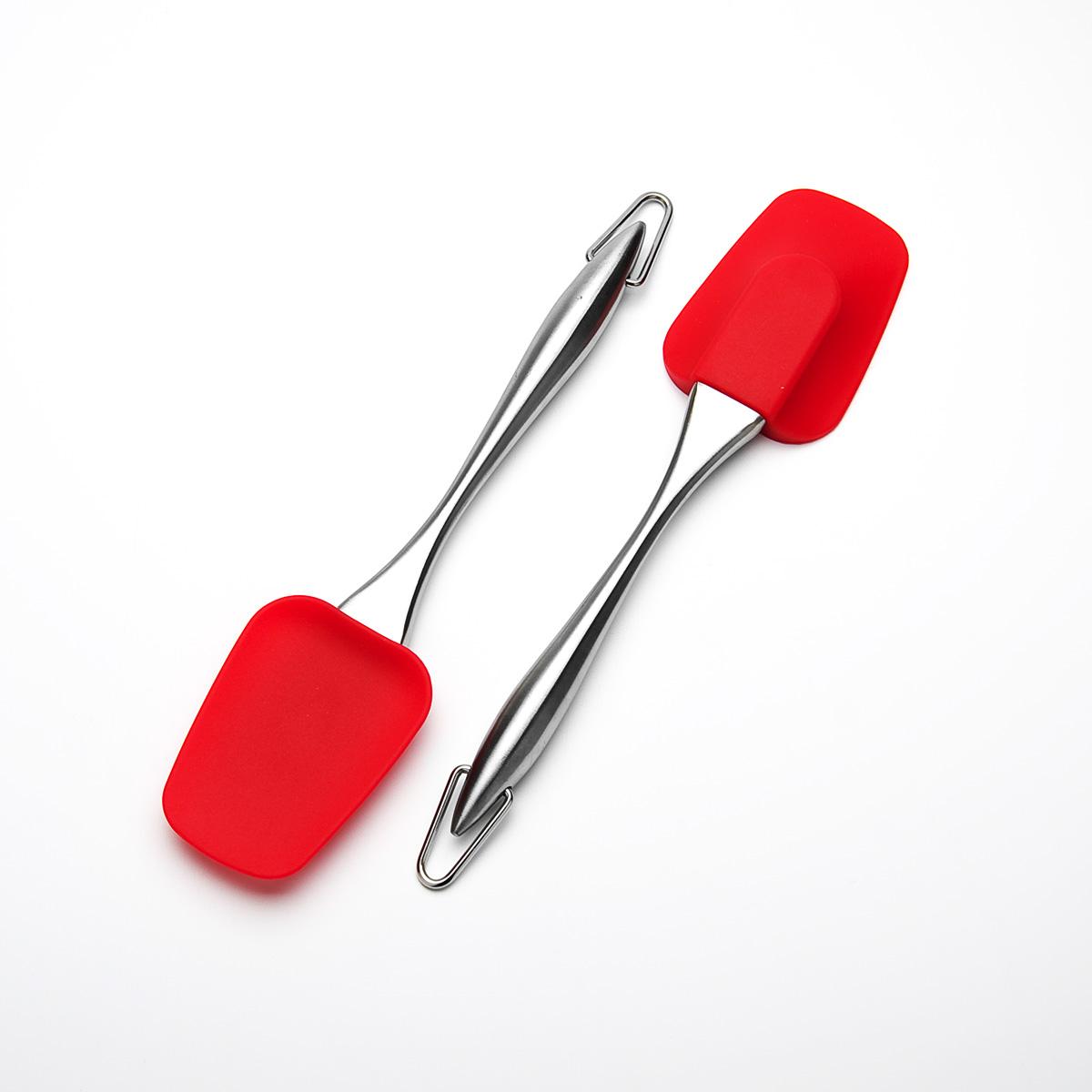 Лопатка кулинарная Mayer & Boch, цвет: красный, длина 26 см23160Кулинарная лопатка Mayer & Boch станет вашим незаменимым помощником на кухне. Рабочая часть лопатки выполнена из силикона, ручка изготовлена из прочной нержавеющей стали. Силиконовая часть лопатки выдерживает температуру до +230°С. Силикон абсолютно безвреден для здоровья, не впитывает запахи, не оставляет пятен, легко моется. Кулинарная лопатка Mayer & Boch - практичный и необходимый подарок любой хозяйке! Можно мыть в посудомоечной машине. Длина лопатки: 26 см.Размер рабочей части: 6,2 см х 8,7 см.