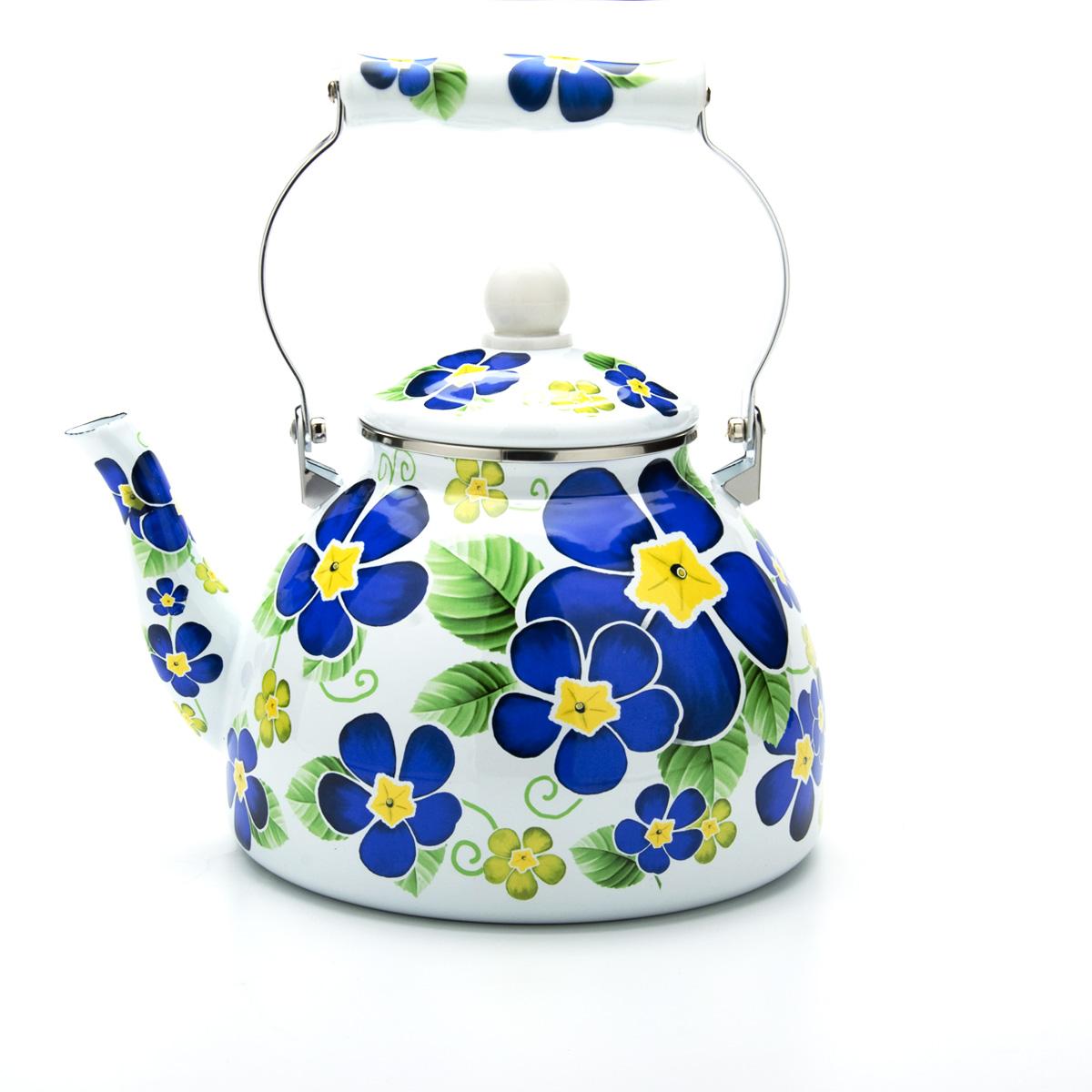 Чайник эмалированный Mayer & Boch, 4 л. 23857 чайник mayer & boch цвет стальной бирюзовый золотой 4 л 1046a