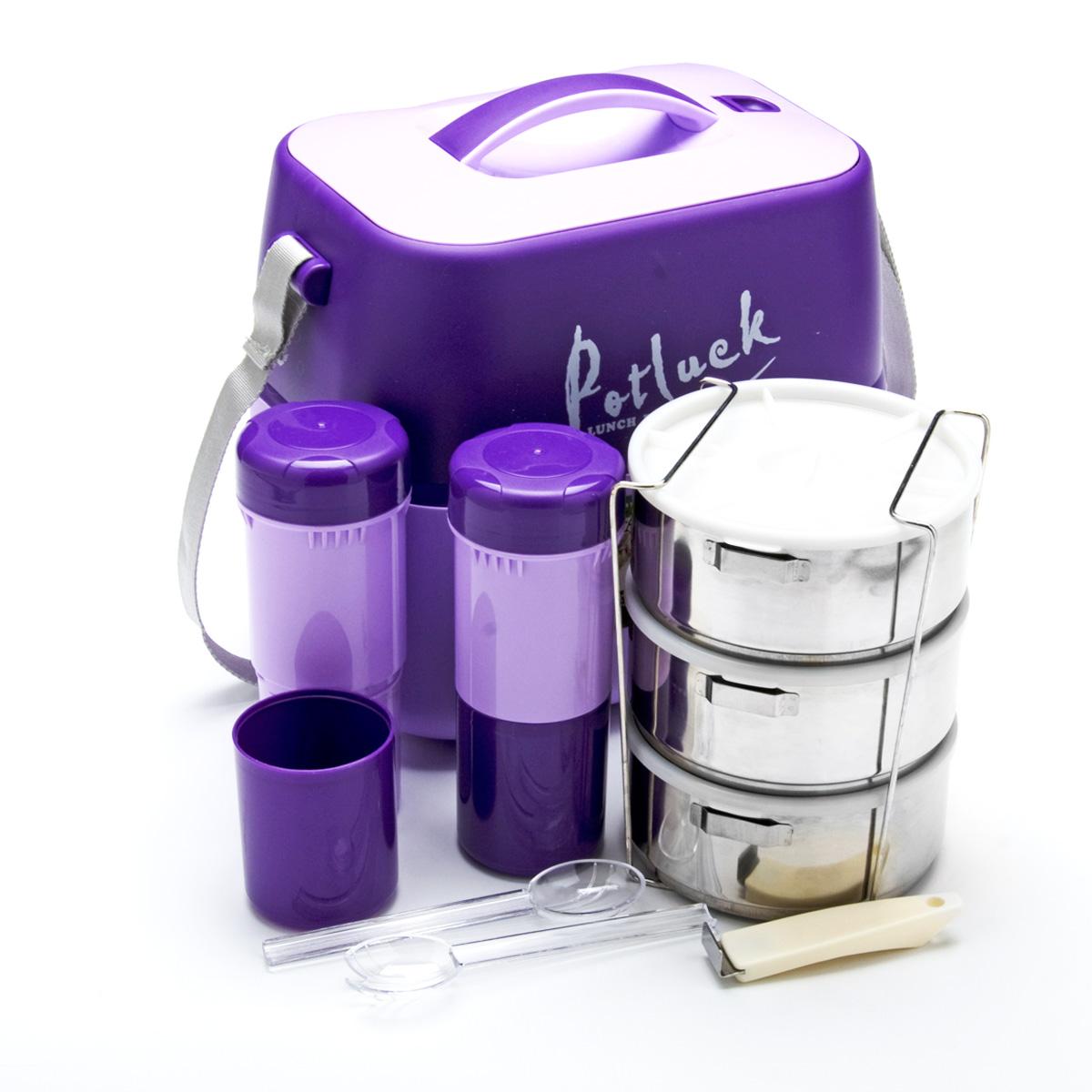 Термо-контейнер для продуктов Mayer & Boch, цвет: фиолетовый, 3,6 л термос контейнер для пищи