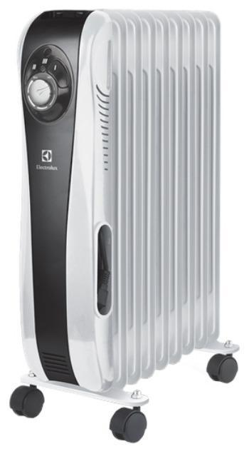 Electrolux EOH/M-5209 Sport LineEOH/M-5209Масляный радиатор Electrolux EOH/M-5209 - надежный, практичный и безопасный обогреватель, выполненный в стиле Hi-Tech. В нем реализована новейшая технологии Max time heat, обеспечивающая непрерывную работу прибора в режиме обогрева более 45 дней.Данная модель обладает трехступенчатой регулировкой энергопотребления: 800, 1200 и 2000 Вт, позволяющей подобрать оптимальный режим обогрева. Высоконадежный механический термостат с удобным и простым управлением по технологии Easy manage обеспечит поддержание требуемой температуры воздуха. Для безопасной работы радиатора предусмотрены: система защиты от опрокидывания, отключающая обогреватель при отклонении от вертикального положения, и система защиты от перегрева на случай превышения допустимой температуры. Увеличина длина шнура,