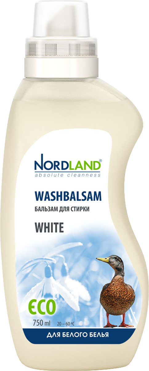 Бальзам для стирки белого белья Nordland White, 750 мл бальзам для стирки nordland eco универсальный 750 мл