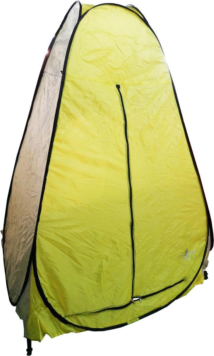 Палатка-автомат для зимней рыбалки SWD, без дна, цвет: желтый, белый, 150 х 150 х 180 см20-3-123Палатка для зимней рыбалки SWD имеет быстросборный каркас зонтичного типа. Высокопрочный легкий каркас выполнен из дюралюминия диаметром 8 мм. Широкая ветрозащитная юбка предохраняет от воздействия внешних факторов. Люверсы по краям юбки обеспечивают более надежную фиксации палатки ко льду ввертышами (в комплект не входят). Вход в палатку застегивается на усиленную двухстороннюю молнию. Изделие оснащено вентиляционным окном, за счет которого создается комфортный микроклимат внутри палатки. Внутри расположен карман для различных мелочей. Палатка легко разбирается и компактно укладывается в сумку для переноски. Материал тента: Oxford 210D, PU 1000.Что взять с собой в поход?. Статья OZON Гид