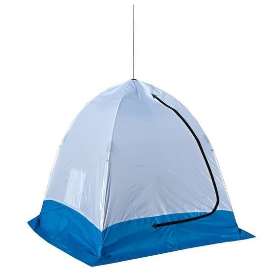Палатка рыбака ELITE 1-м полуавтомат нетканная (Стэк), цвет: белый/голубой спот globo lord ii 5441 4