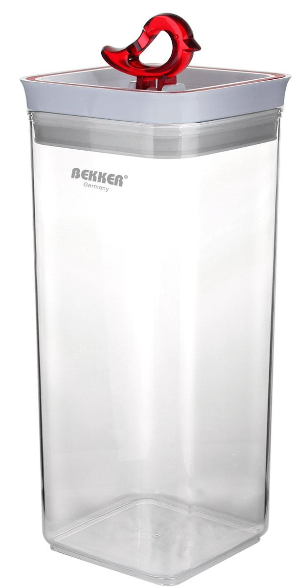 Контейнер для сыпучих продуктов Bekker, 3,2 л емкость для хранения сыпучих продуктов с крышкой 10x7 5 см berghoff studio 1106373