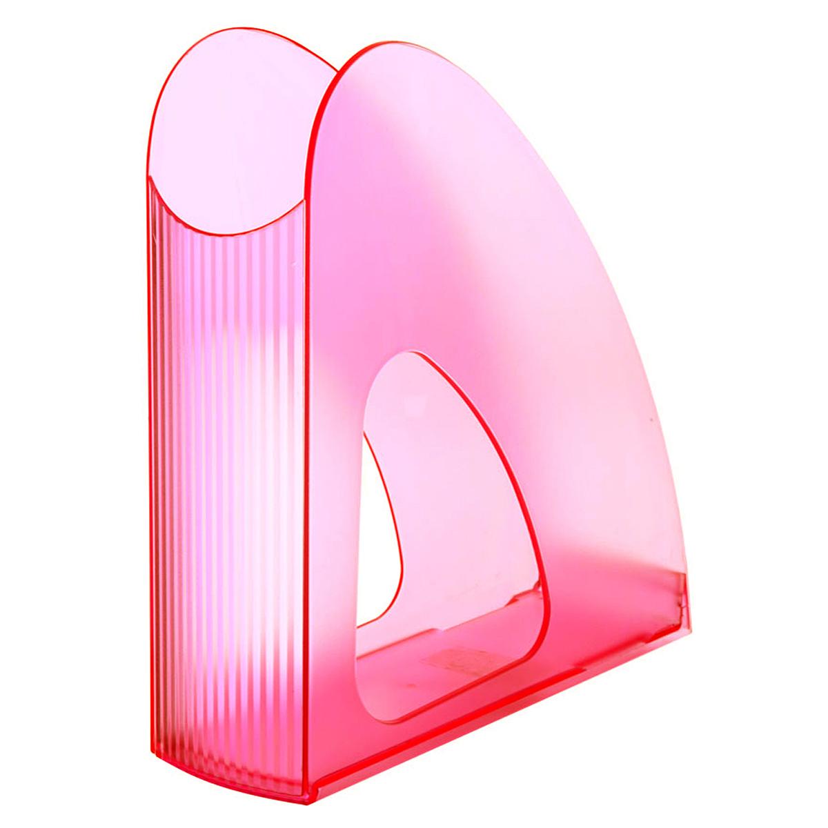 Лоток для бумаг вертикальный HAN Twin Signal, прозрачный, цвет: розовыйHA16110/76Вертикальный лоток для бумаг HAN Twin Signal с оригинальным дизайном корпуса поможет вам навести порядок на столе и сэкономить пространство. Лоток изготовлен из прозрачного антистатического пластика яркого цвета. Низкий передний порог облегчает изъятие документов из накопителя. Благодаря лотку для бумаг, важные бумаги и документы всегда будут под рукой.