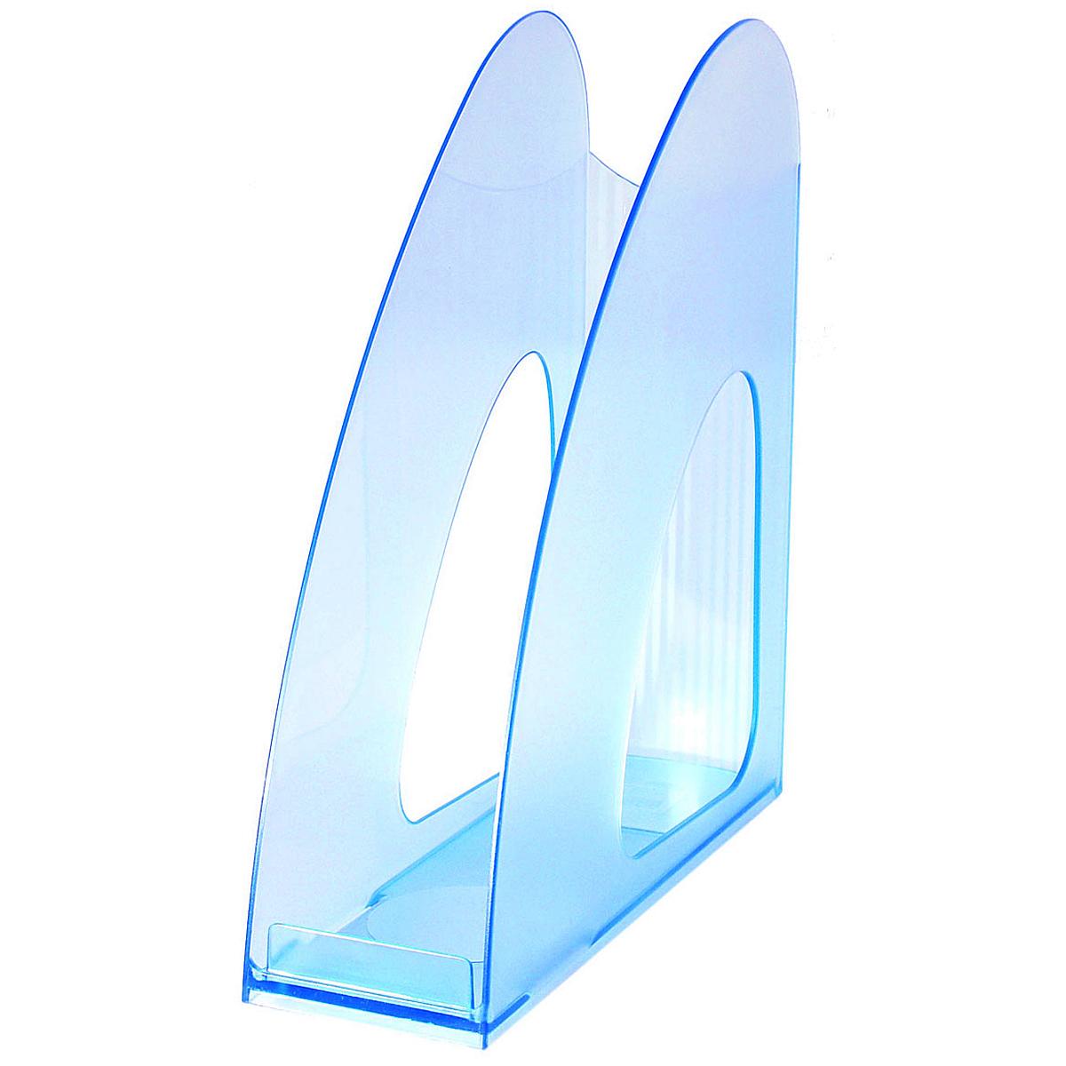 """Лоток для бумаг вертикальный HAN """"Twin"""", прозрачный, цвет: голубой"""