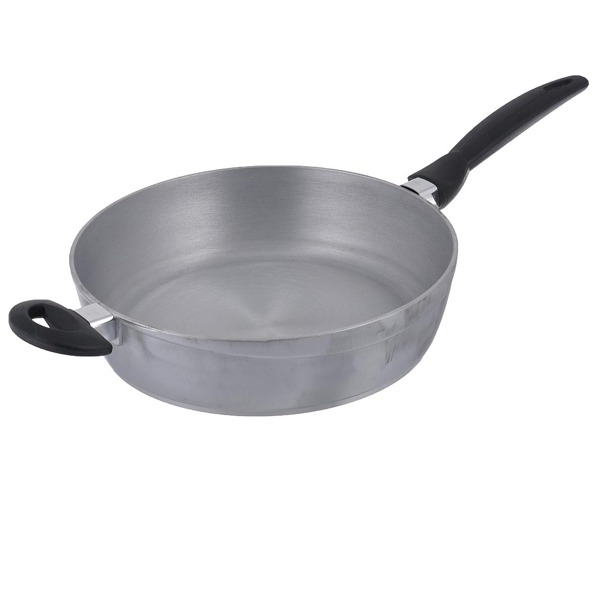 Сковорода SMS. Диаметр 28 см9528SMSСковорода SMS изготовлена из литого алюминия с матовой поверхностью. Посуда из такого материала обладает уникальными свойствами. Алюминий прочный и одновременно легкий материал, который идеально подходит для кухонной посуды. Алюминиевая посуда обладает высокой теплопроводностью - мгновенно нагревается, что способствует быстрой передаче тепла продуктам, готовящимся в ней. Поверхность невероятно прочная, устойчивая к появлению царапин. Сковорода оснащена удобными бакелитовыми ручками. Подходит для газовых и электрических плит. Можно мыть в посудомоечной машине.