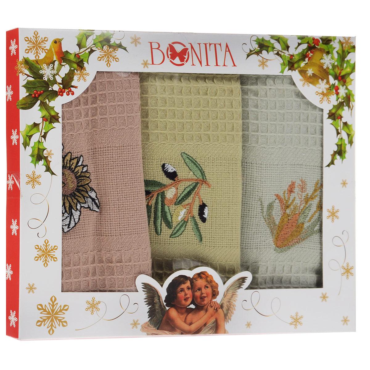 Набор полотенец Bonita Греция, 45 см х 70 см, 3 шт-три вида комплектации01010315381