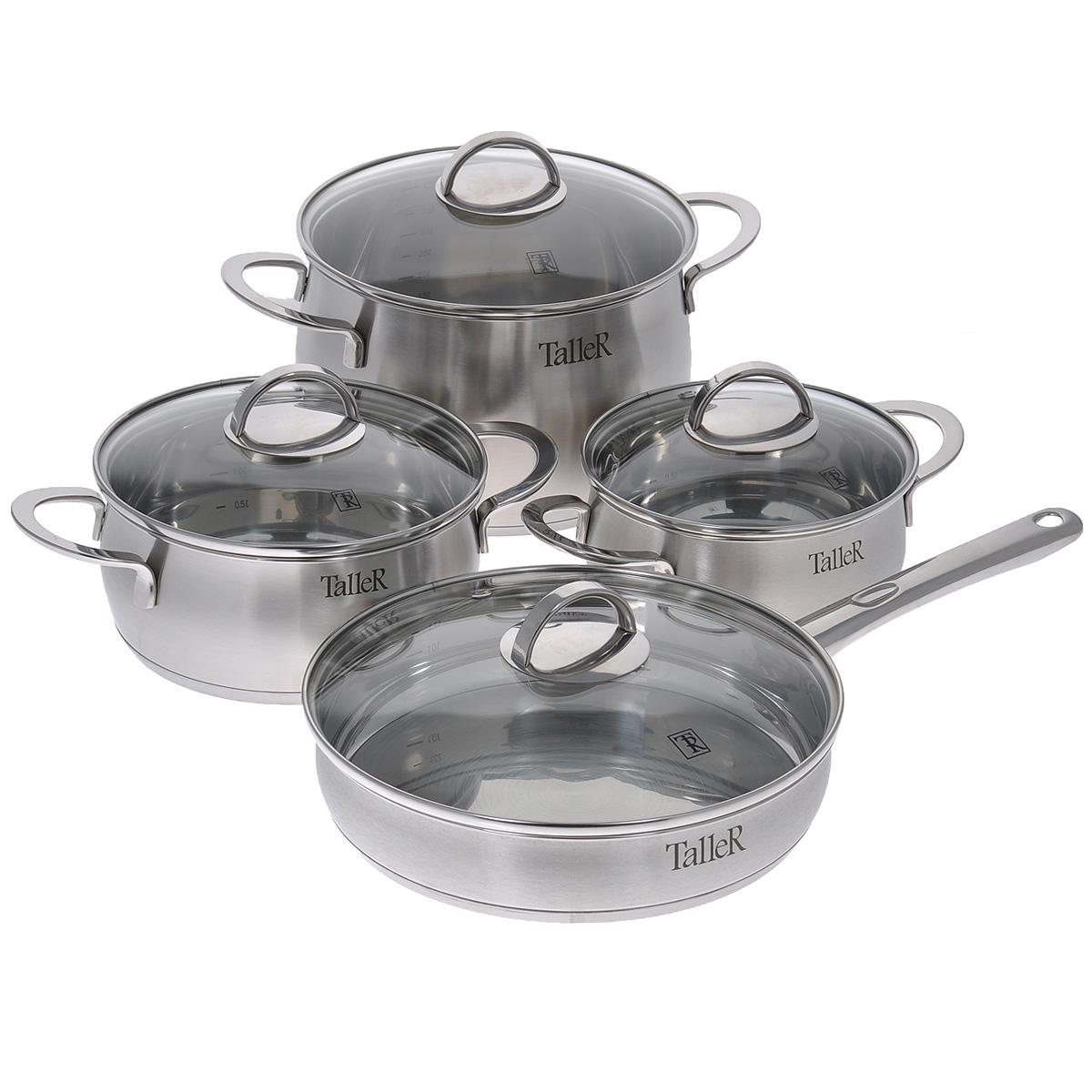 Набор посуды Taller Ледбери, 8 предметов сковорода taller tr 4153
