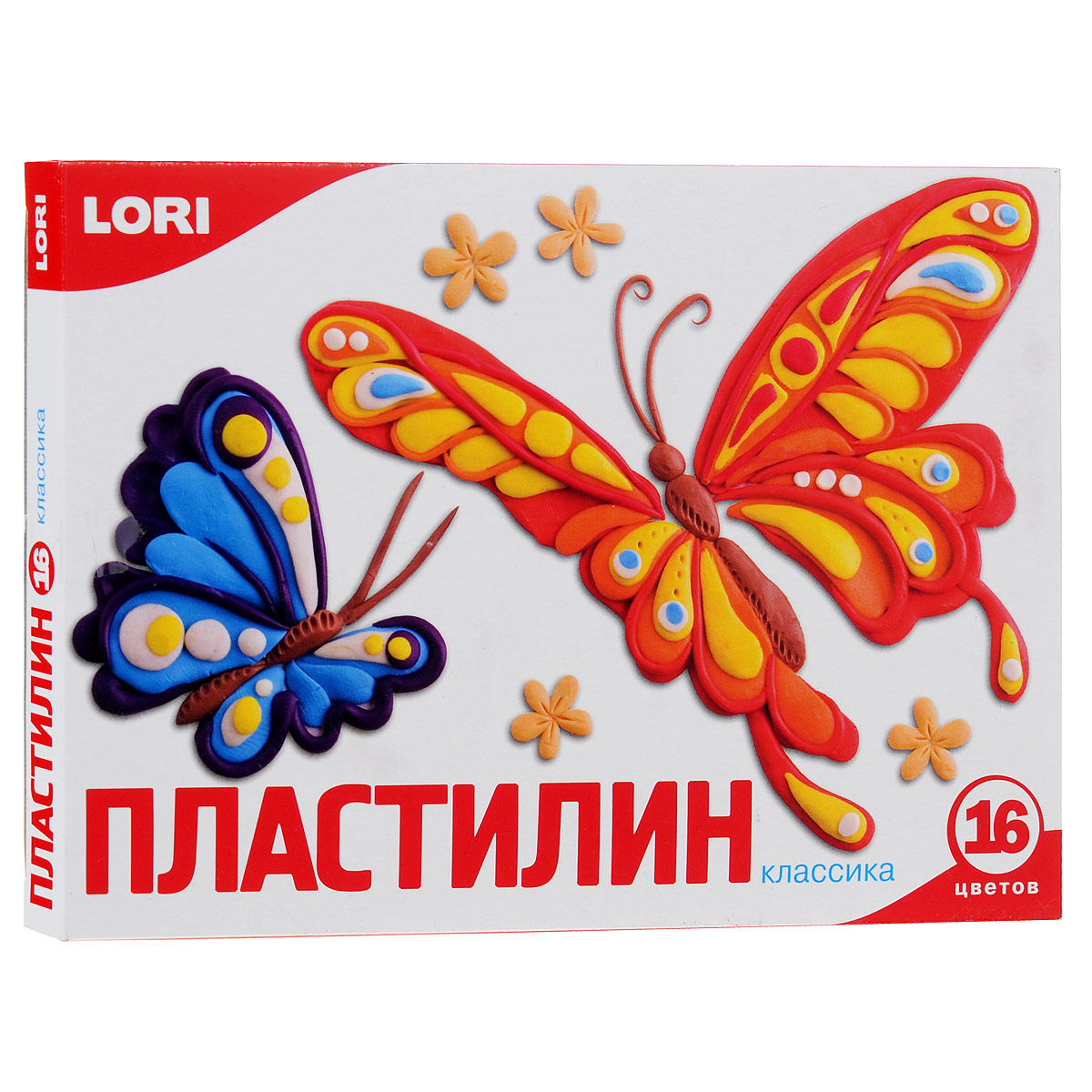 Пластилин Lori Классика, 16 цветов пластилин детский классика 16 цветов 20с 1329 08