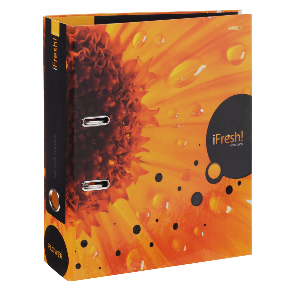 Папка-регистратор Hatber iFresh!: Цветок, цвет: оранжевый фискальный регистратор атол fprint 22птк без фн white