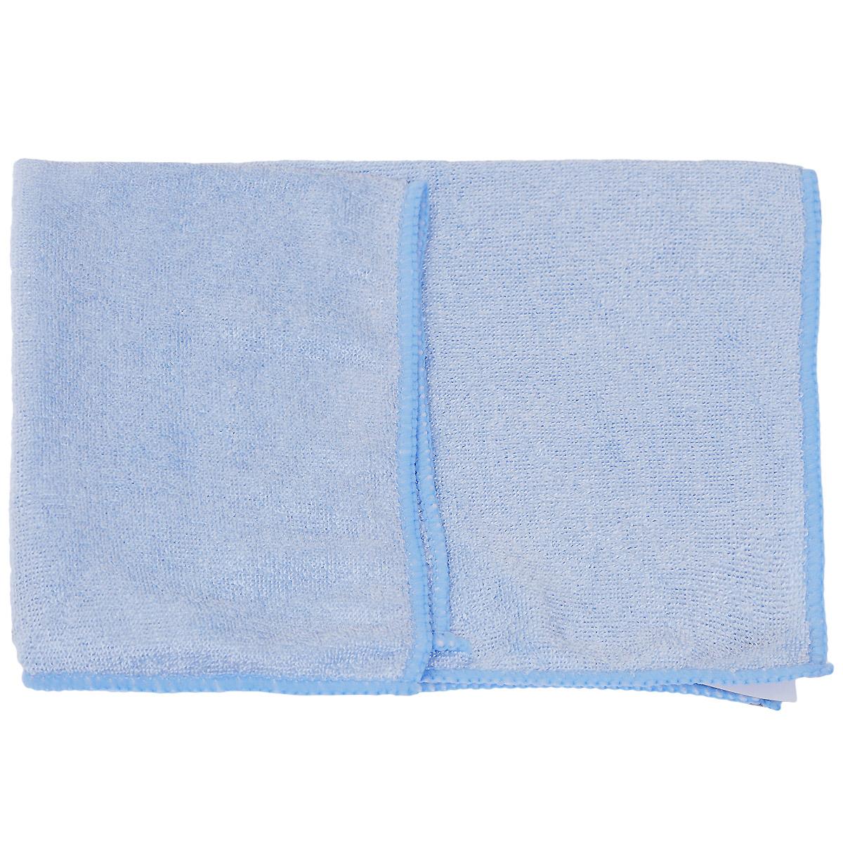 Салфетка Clingo для ухода за автомобилем, универсальная, цвет: голубой, 32 см х 32 см салфетка универсальная vileda микрофибра цвет розовый 32 х 32 см